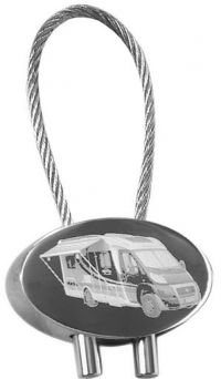 Individual keyring engraved with your mobil home picture